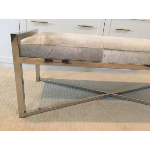 Mohair X-Base Bench/Cocktail Table - Image 5 of 11