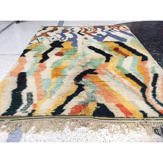 Moroccan Multi-Color Moroccan Rug - 8′3″ × 11′5″ For Sale - Image 3 of 8