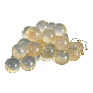 Mid Century Modern Bunch of Lucite Grapes For Sale