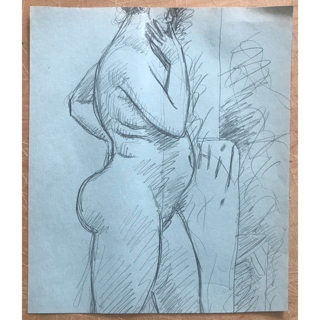 Contemporary 1970s James Bone Nude Woman Drawing For Sale - Image 3 of 3