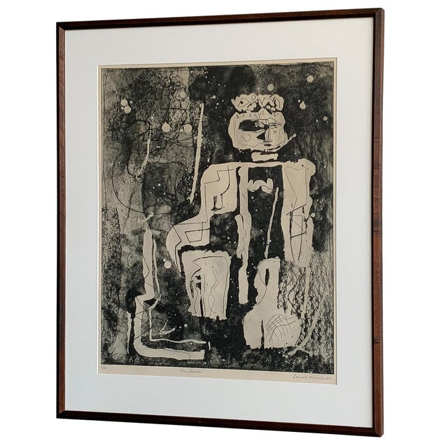 "White Louise Nevelson Framed Etching ""The Search"", 1953-1955 For Sale - Image 8 of 8"