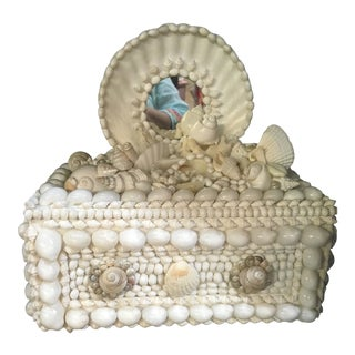 Vintage Hand Made Shell Box For Sale