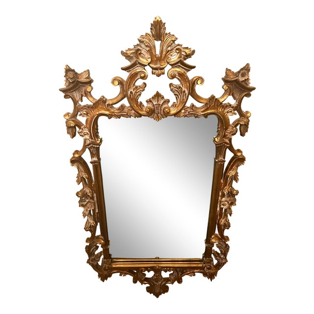 1bea35b09795c Vintage French Provincial Gold Leaf Mirror For Sale. Beautiful vintage  mirror gilded in gold leaf! This piece would add a touch of European