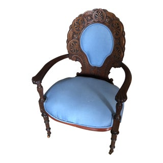 1930s Vintage Blue Chair** For Sale