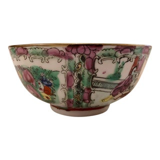Small Rose Medallion Bowl For Sale