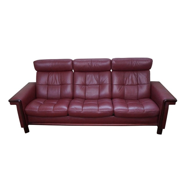 Ekornes Stressless Leather Reclining Sofa - Image 1 of 10
