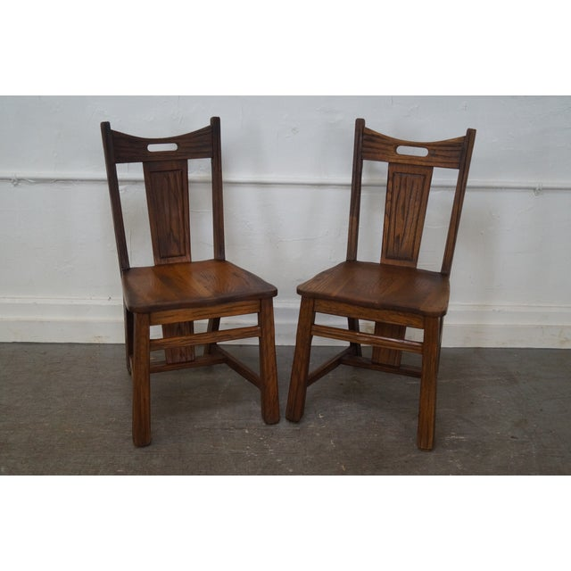 Brandt Ranch Oak Rust Dining Chairs - Set of 4 - Image 2 of 10