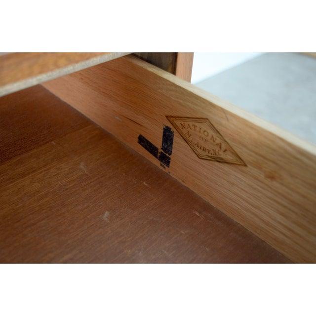 Brass Mid Century Mt. Airy 6-Drawer Lowboy Walnut Dresser For Sale - Image 7 of 11