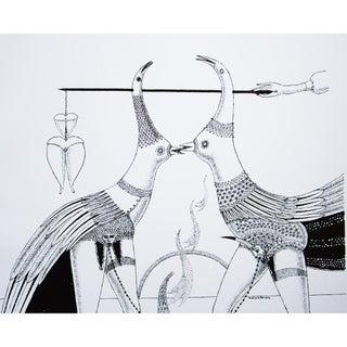 1968 Max Walter Svanberg Composition No. 9, Original Period Black & White Lithograph Preview