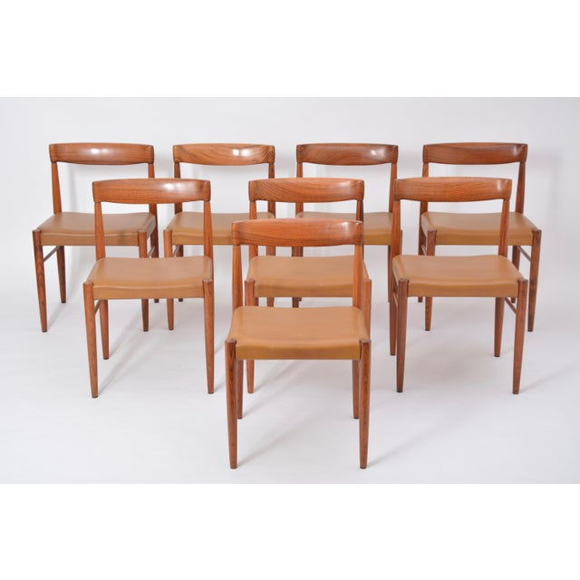 Set of 8 Midcentury Dining Chairs by h.w. Klein for Bramin For Sale - Image 12 of 12