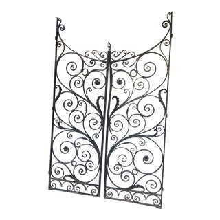 1920s Vintage Spanish Rod Iron Pedestrian Gates For Sale
