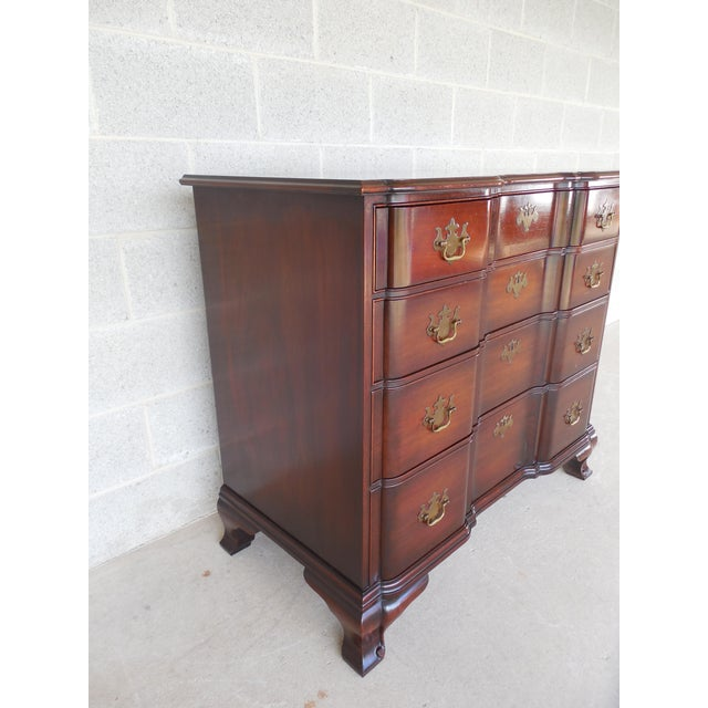 KINDEL Chippendale Style Mahogany Block Front Chest - Image 5 of 11