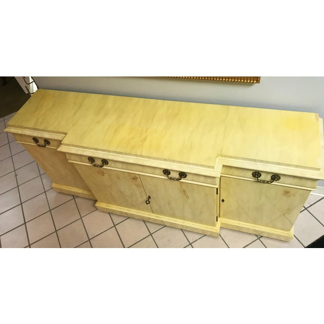 Beautiful vintage sideboard buffet by Karges Furniture of Evansville, Indiana. Excellent craftmanship of solid wood with a...