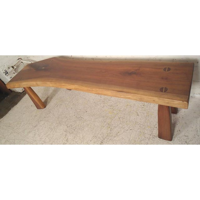 1960s Refinished Live Edge Bench For Sale - Image 5 of 5
