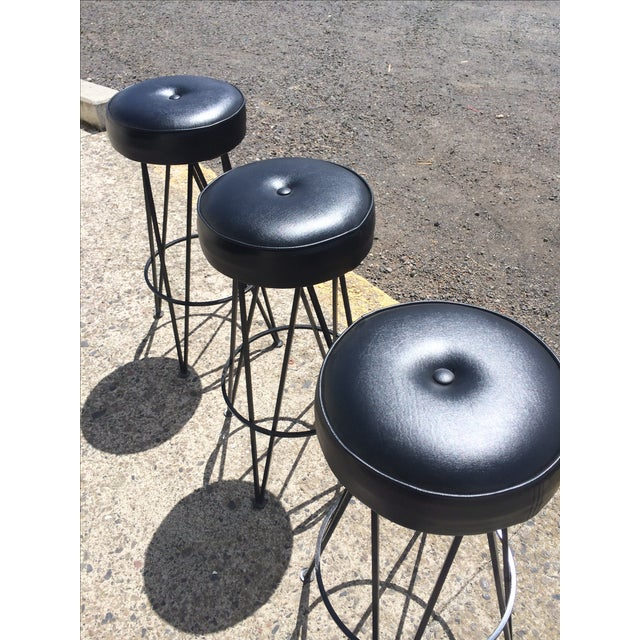 Frederick Weinberg-Attributed Bar & Bar Stools - Image 7 of 7