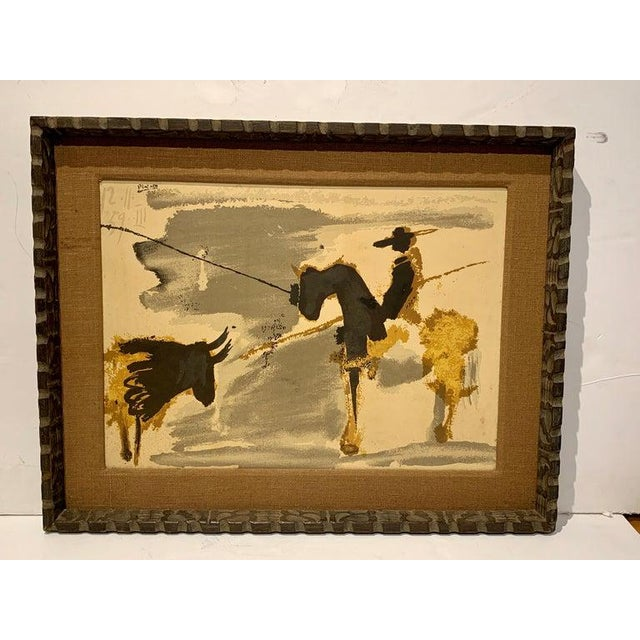 Modern Before the Thrust, Silkscrren Litho, After Picasso For Sale - Image 3 of 9