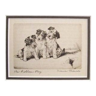 "1936 American Diana Thorne Dog Portrait, ""Problem Play"""