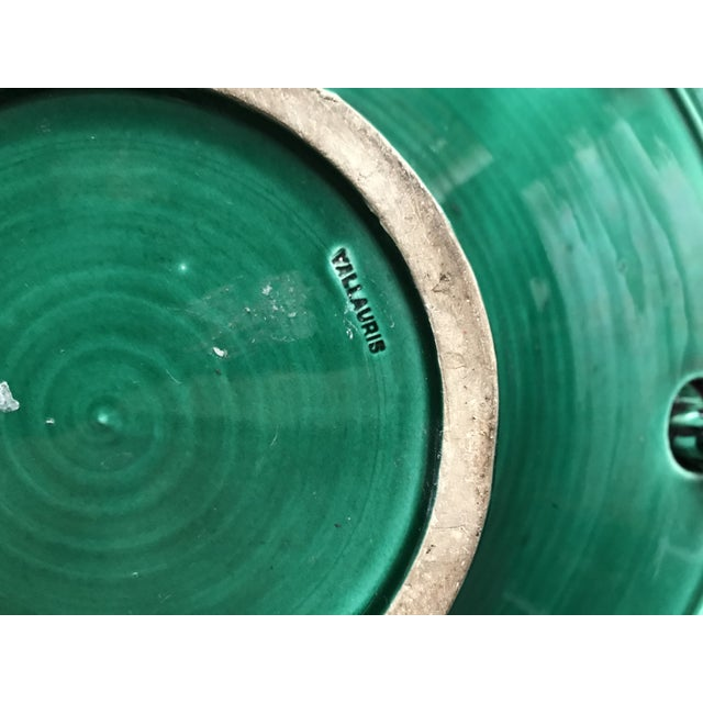 Mid-Century Modern Mid 20th Century Vallauris Green and Black Mid Century Bowl For Sale - Image 3 of 10