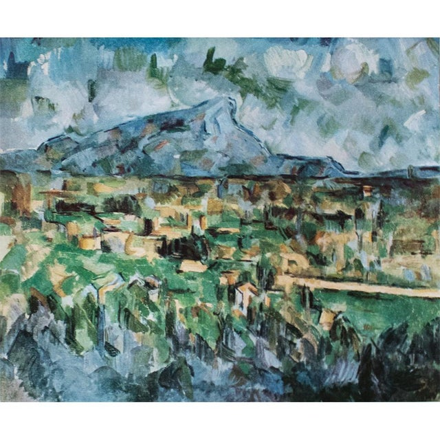 A beautiful original tipped-in lithograph after Mont Sainte Victoire painting by Paul Cezanne from his portfolio published...