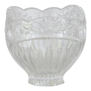 Mid-Century Bleikristall Bavarian Cut Crystal Glass Serving Bowl For Sale