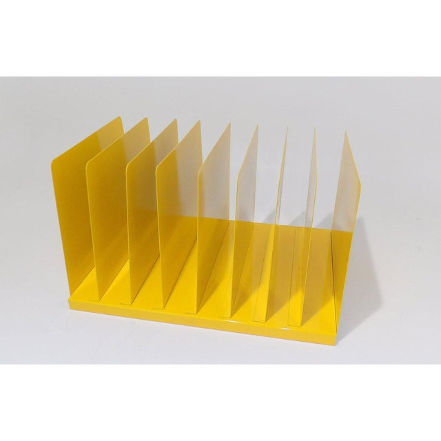 Industrial Yellow Metal Office File/Organizer For Sale - Image 3 of 7