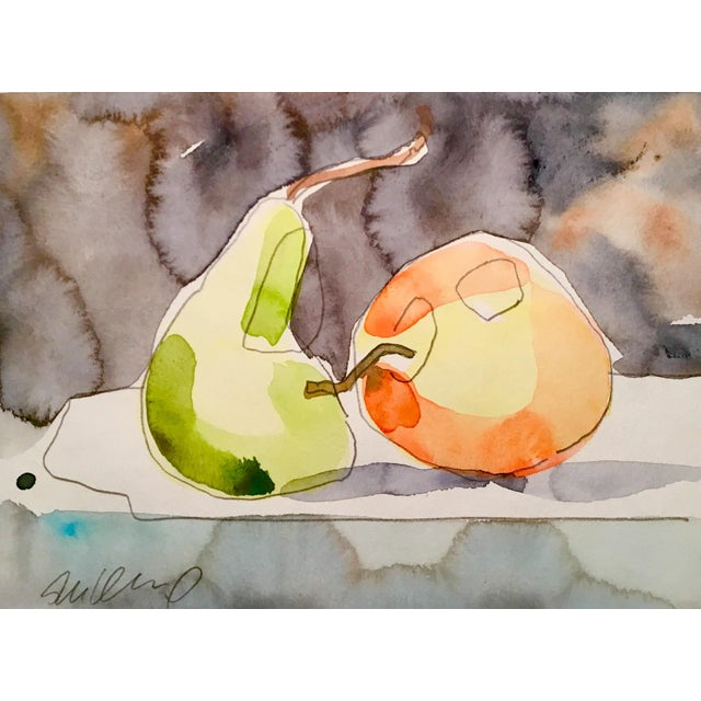 Original watercolor painting on strathmore paper. Still life art.
