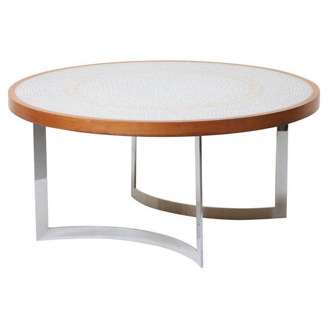 Huge Mosaic Coffee Table by Berthold Müller, Germany, 1967 For Sale - Image 13 of 13