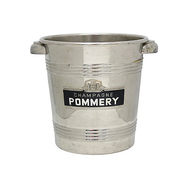 Mid 20th Century Vintage Pommery Enameled Champagne Ice Bucket For Sale - Image 5 of 5