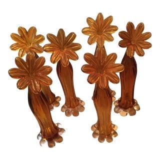 1970s Vintage Art Glass Swung Vases - Set of 6 For Sale