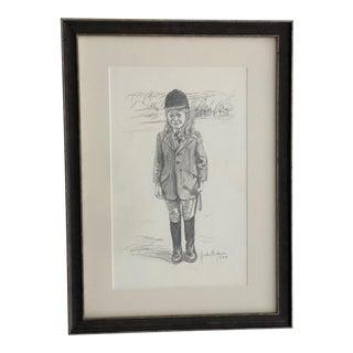 Original Gordon Wetmore Portrait of Young Equestrian For Sale