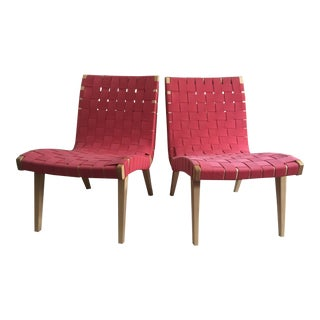 Pair of Original Jens Risom Lounge Chairs by Knoll Mid-Century Modern Danish For Sale