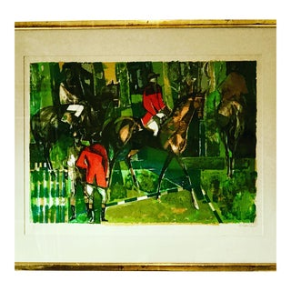 Abstract Contemporary Equestrian Print For Sale