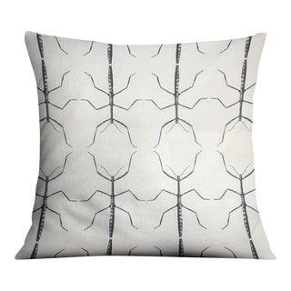 Stickbug White & Gray Pillow For Sale