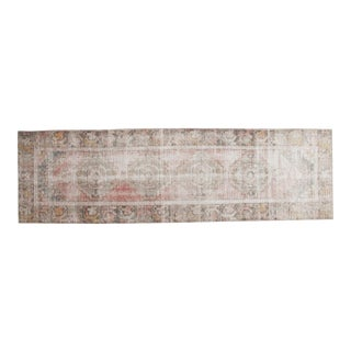 "Vintage Distressed Oushak Rug Runner - 2'10"" x 9'5"""