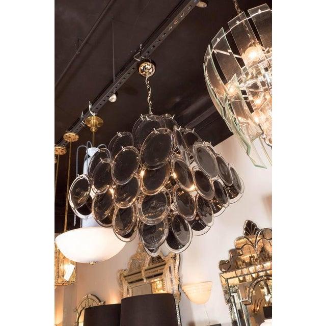 Distinguished ultra chic modernist diamond shaped black murano glass early 20th century ultra chic modernist diamond shaped black murano glass chandelier by vistosi for sale aloadofball Choice Image