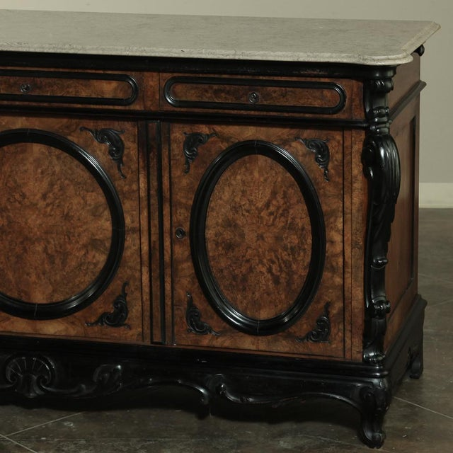 White 19th Century Biedermeier Marble Top Buffet For Sale - Image 8 of 13