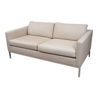 Knoll Style Upholstered Sofa For Sale