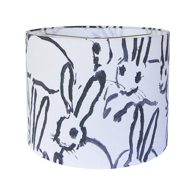 Black and Ivory White Rabbit Lamp Shade For Sale - Image 4 of 4