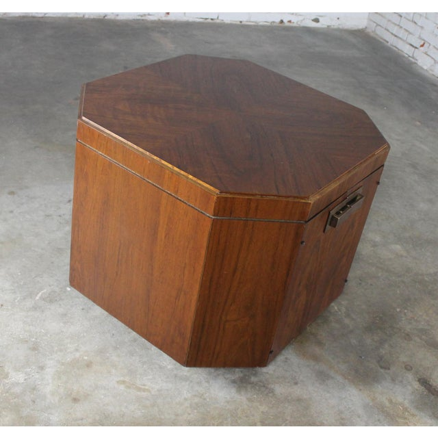 Founders Furniture Company Vintage Founders Furniture Cabinet Table For Sale - Image 4 of 11