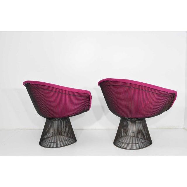 Warren Platner 1960s Bronze Warren Platner Lounge Chairs - A Pair For Sale - Image 4 of 9