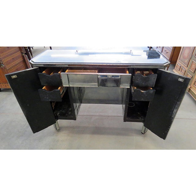 Black Modern Design Abstract Desk For Sale - Image 8 of 11
