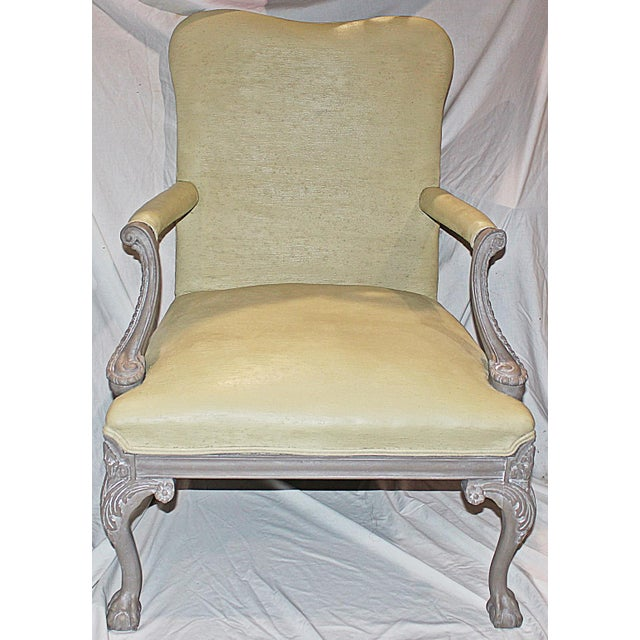 Carved Chippendale-Style Armchair - Image 3 of 8
