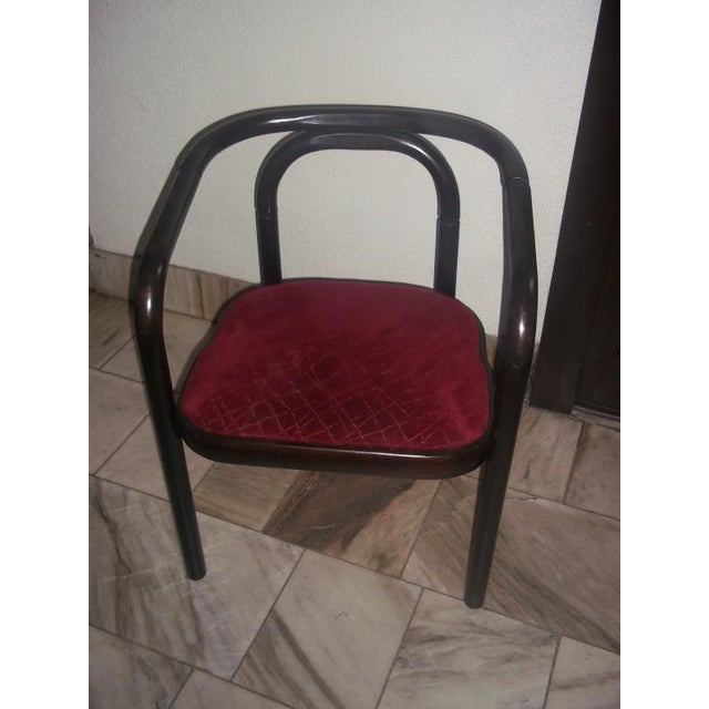1970s Vintage beechwood chair by TON For Sale - Image 5 of 8