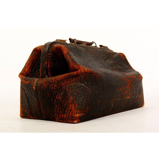 For your consideration a vintage leather doctor's bag.