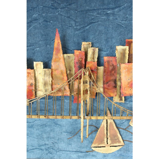 1980s Golden Gate Bridge Mixed Metal Wall Sculpture For Sale - Image 5 of 10