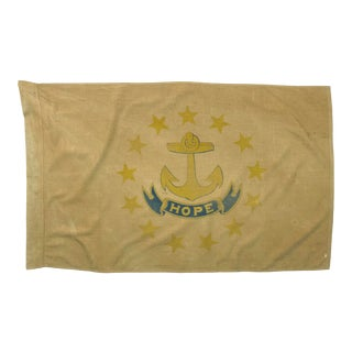Mid 20th Century Rhode Island Cotton Flag For Sale