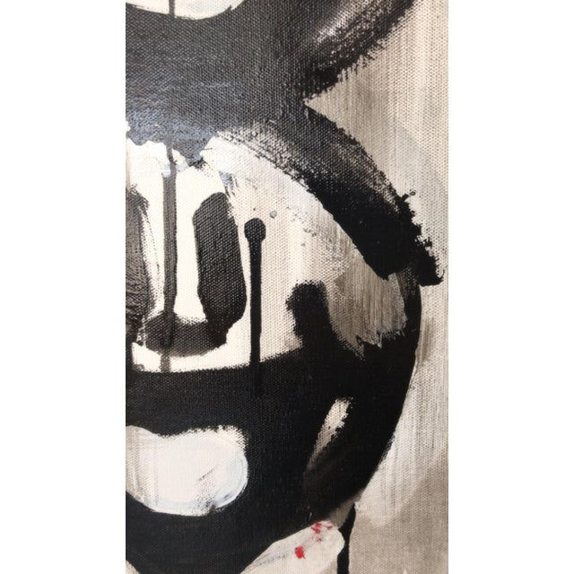 Madison Faile Twelve Faces Contemporary Artwork Acrylic on Canvas For Sale - Image 4 of 6