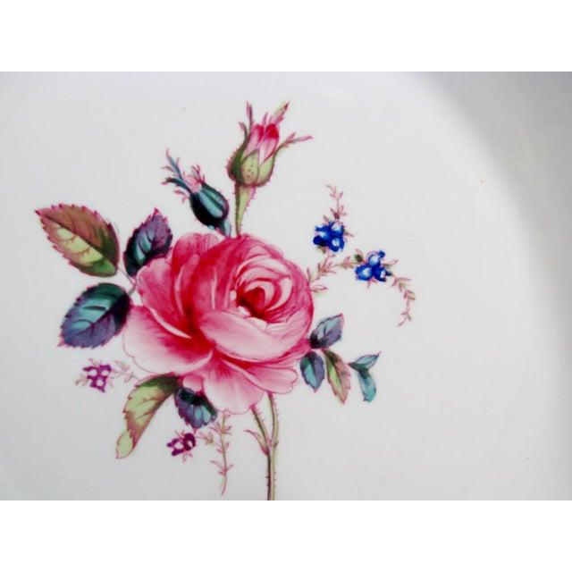 Spode Antique Spode Copeland Billingsley Pink Rose Luncheon Plates - Set of 8 For Sale - Image 4 of 8
