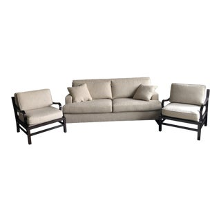 Baker Sofa and Side Chairs - Set of 3 For Sale