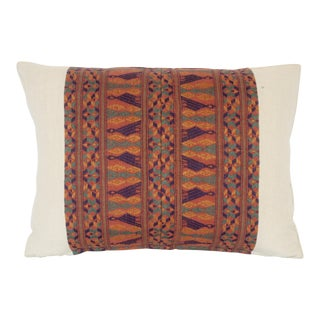 Vintage Bolivian Hand Woven Textile Pillow For Sale